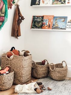 Toy Baskets For Your Play Space / Playroom Sturdy And on Amazing Playroom Ideas 8560 Toy Storage Baskets, Basket Organization, Playroom Organization, Playroom Decor, Playroom Ideas, Playroom Design, Kids Storage, Organizing, Rooms To Go Kids