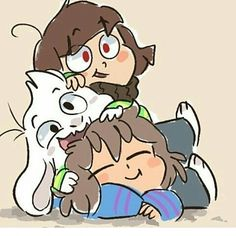 *Hello! /// game night again! We gonna win! Yeah! (Credit to:???) #undertale #asriel #chara #frisk  #littletale