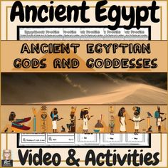 Students love mythology! This is the perfect addition to any mythology unit or ancient Egypt unit. A one of a kind resource that your students will never forget. Included- A 5 minute video featuring 8 Egyptian gods & goddesses-Ra-Sekhmet-Ma'at-Isis-Osiris-Horus-Anubis-Thoth, A PPT presentation of the video slides and 25+ worksheets and activities!