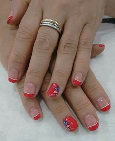 Rojo Manicure, Nails, Beauty, Red, Nail Bar, Finger Nails, Ongles, Polish, Manicures