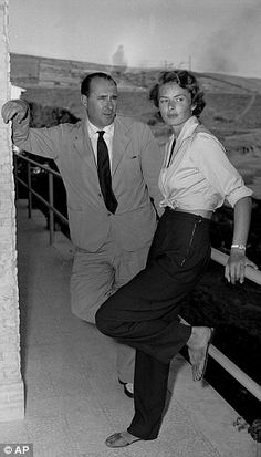 Ingrid Bergman with Roberto Rossellini in 1950 | Daily Mail Online