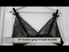 DIY Coudre Soutien-gorge triangle dentelle+Patron gratuit - Helena Couture - YouTube