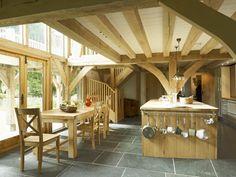 Oak Framed House   Kitchen   Slate Floors   Castle Ring Oak Frame