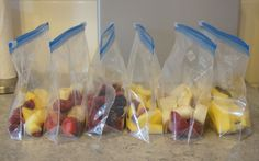 Smoothie Packs - Cut, freeze in portions, when you want a smoothie just put it in a blender!
