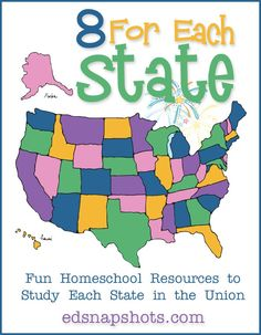 US Geography Eight For Each State-books, videos, and activities