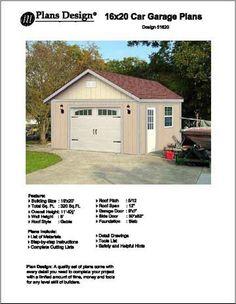 Download free 18 x 22 garage plans for 18 x 20 garage plans