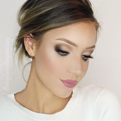 Soft bridal look using the @katvondbeauty Shade and Light Eye Contour Palette and @sigmabeauty brushes!
