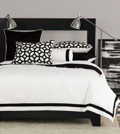 Brilliant Black and White Stripped Comforter