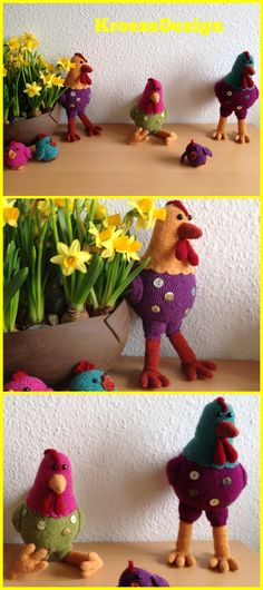 #KipKatrien by #stipenhaak #elinegarn #KroezeDezign #påskepynt #easterdeco #hækling #crochet March 2017