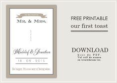 Free printable for your DIY wedding