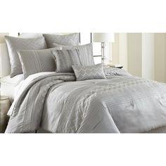 Reagan Gray 8-Pc Embroidered Comforter Set