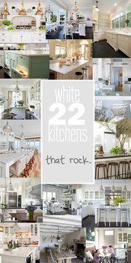 amazing white kitchens.