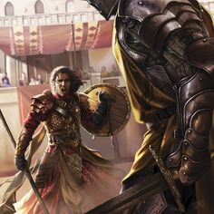 Oberyn Martell vs Gregor Clegane by Magali Villeneuve for the 2016 ASOIAF calendar