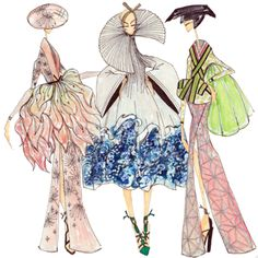 Dior Spring Couture 2007, sketched by J Larkowsky