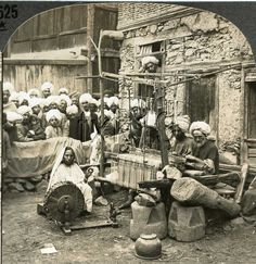 """""""Spinning and Weaving Woolen Shawls, Srinagar, Kashmir, India. Spinning Wool, Spinning Wheels, Textile News, Kashmir India, Srinagar, Indian Textiles, Black N White Images, Old Art, Old Pictures"""
