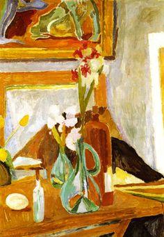 Flowers in the Studio (Vanessa Bell - 1915)