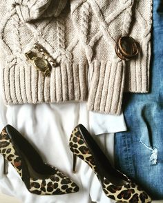 Outfit mit Leo Heels