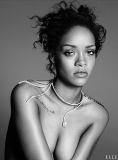 Rihanna photographed by Paola Kudacki for Elle Magazine US, December 2014.