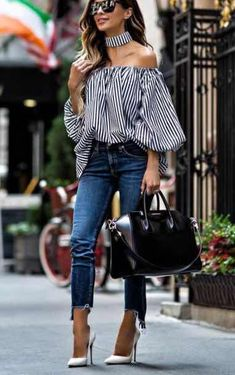 New Ideas Fashion Design Inspiration Dresses Spring Summer Chic Outfits, Spring Outfits, Fashion Outfits, Jeans Fashion, Fashion Heels, Mode Chic, Mode Style, Look Fashion, Trendy Fashion