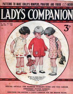 Ladies Companion April 10 1926 Children's Patterns   eBay
