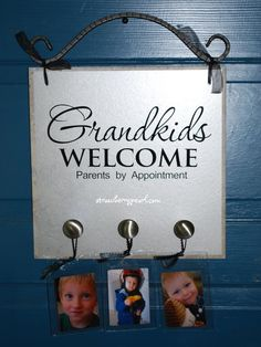 Love this! Going to make it for my patents front door...cause it's true!!!