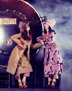 Tian Yi, Bonnie Chen, Miao Bin Si, Danni Li and Ma Jing in Louis Vuitton F/W 2012byAlexander Chowfor Vogue China Fall 2012 collection