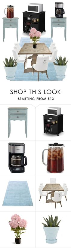 """""""My future house#4"""" by kacitomlin ❤ liked on Polyvore featuring interior, interiors, interior design, home, home decor, interior decorating, Safavieh, Capresso, National Tree Company and Chive"""