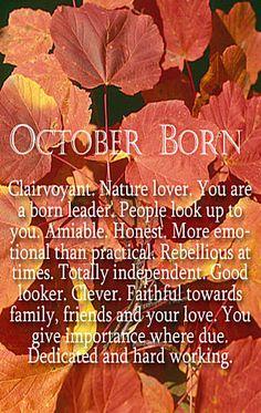 October Born...it's in the stars. :)
