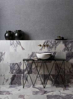 Our stunning Calacatta Viola Honed Marble tiles have a striking deep purple veining. Browse our range of Marble tiles at Mandarin Stone or visit one of our UK showrooms. Bad Inspiration, Bathroom Inspiration, Bathroom Ideas, Design Bathroom, Bathroom Renovations, Master Bathroom, Loft Bathroom, Bathroom Trends, Tile Design