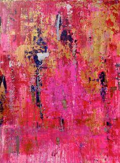 Drippy Distressed Abstract Art Large Susan by susanskelleyart, $360.00