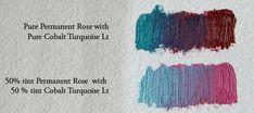Favorite Paint Mixtures: Permanent Rose (PV19) — Elizabeth Floyd Color Mixing Chart, Art Tutorials, Painting Tutorials, Oil Painting Lessons, Rose Images, Flower Petals, Color Theory, Art Techniques, Spring Flowers