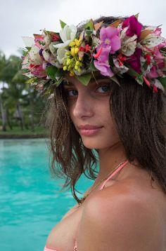 Taylor Hill going full Bora Bora.   Victoria's Secret Swim 2016