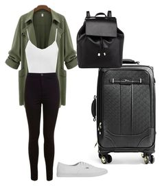 """""""Airport attire"""" by rosethalwadjian on Polyvore"""