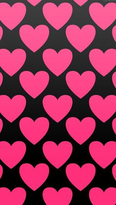 HOTPINK×BLACK heart wallpaper♡ | pretty, pink and black