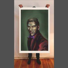 Young man, fine art print, painting, giclee, portrait, wallart, artwork, oil painting, figurative art, contemporary art, Berlin art, face