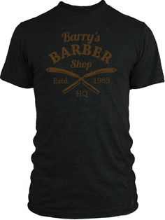 Big Texas Retro Barber Shop Sign (Brown) Vintage Tri-Blend T-Shirt