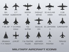 military aircraft icons