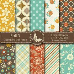 Fall 3 Digital Papers | Sherykdesigns.com