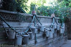 Watering can swag | Harmony in the Garden