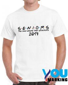 The One Where They Graduate Seniors Friends Class of 2019 white Tshirt //Price: $12.99 //     #hoodiesweatshirt