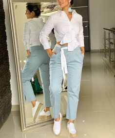 Womens Fashion For Work, Girl Fashion, Outfit Elegantes, Cool Outfits, Summer Outfits, Office Wear, Everyday Fashion, Casual Wear, Marie