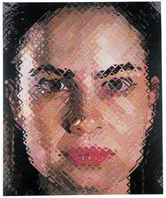 Chuck Close Inka 2003 oil on canvas, 102 x 84 inches Courtesy PaceWildenstein