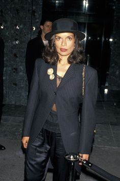 Famous Women Have Been Defying Gender Norms and Rocking Menswear for Years--Bianca Jagger Famous Celebrities, Famous Women, Celebs, 70s Fashion, Fashion Show, Vintage Fashion, Suit Fashion, Street Fashion, Bianca Jagger