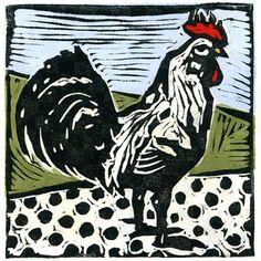 """Vintage Rooster"" by Lisa Kesler"