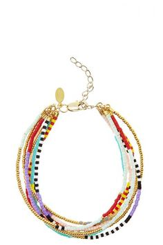 Multi Strand Bead Bracelet   Calypso St. Barth