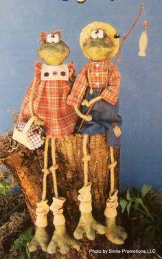 Sew Country Primitive Sweet Dreams Halloween Pumpkin Frogs | eBay. $6.95