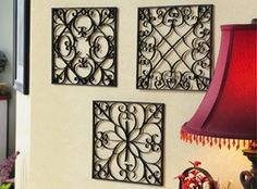 Craft Ideas : Projects : Details : faux-wrought-iron-wall-art patterns to print made with recycled paper towel tubes Mais Wrought Iron Wall Art, Metal Tree Wall Art, Diy Wall Art, Wall Decor, Paper Towel Roll Crafts, Paper Towel Tubes, Toilet Paper Roll Art, Toilet Paper Roll Crafts, Home Crafts