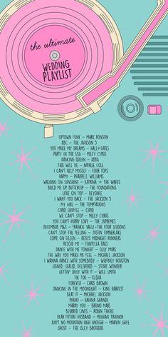 The Ultimate Wedding Playlist | studiodiy.com                                                                                                                                                      More