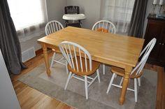essgruppe shabby chic landhaus stil selber machen diy tisch abschleifen stuhl streichen. Black Bedroom Furniture Sets. Home Design Ideas
