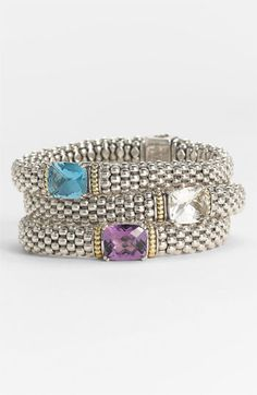 Lagos 'Prism' Rope Station Bracelet available at #Nordstrom  Dreaming.... Lol